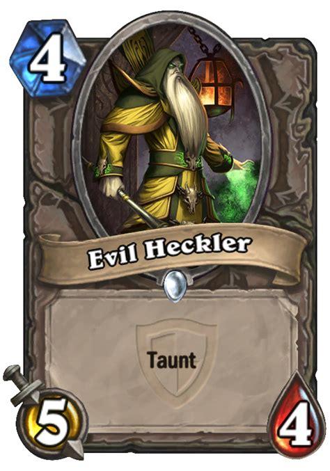 hearthstone taunt deck 2015 evil heckler hearthstone card