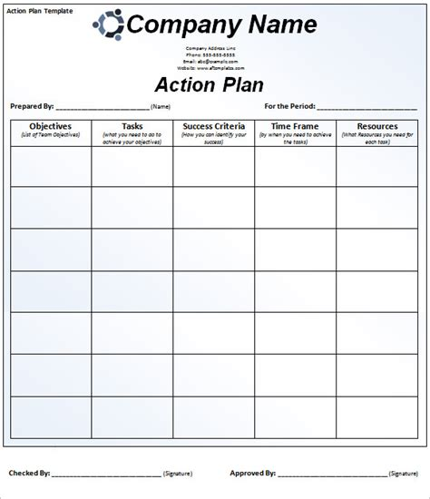 action plan template 78 plan templates word excel pdf free premium templates