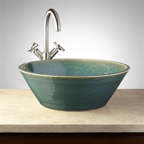 "18"" Anya Ceramic Vessel Sink Bathroom"