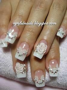 Gel Nail Designs For Wedding%#$   bridal nails   Pinterest ...