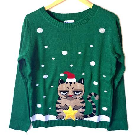 igly sweater grumpy cat tacky sweater the sweater