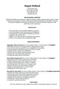 Firefighter Promotion Resume Exles by Professional Firefighter Templates To Showcase Your Talent Myperfectresume