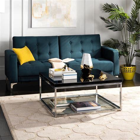 safavieh coffee table safavieh malone chrome high gloss black coffee table
