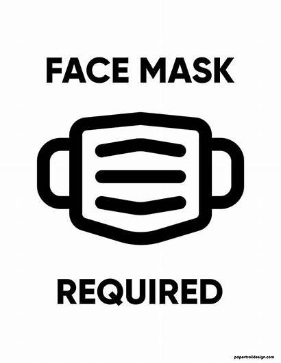 Mask Required Face Printable Signs Wear Trail