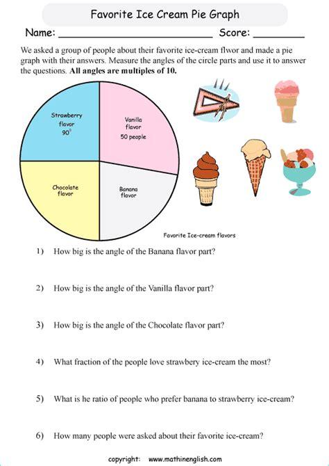 measure  angles   parts   pie graph