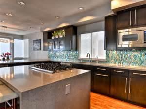 kitchen island with range waterfall kitchen island hgtv