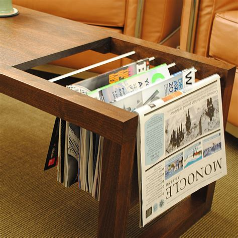 Tavo Coffee Table And Magazine Rack  Data Furniture