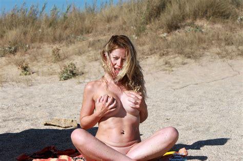 Nude Handbra Babe On The Beach August Voyeur Web Hall Of Fame
