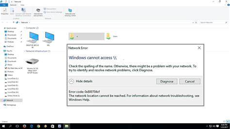 windows access cannot network error fix