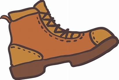 Boots Boot Clip Clipart Hiking Brown Transparent