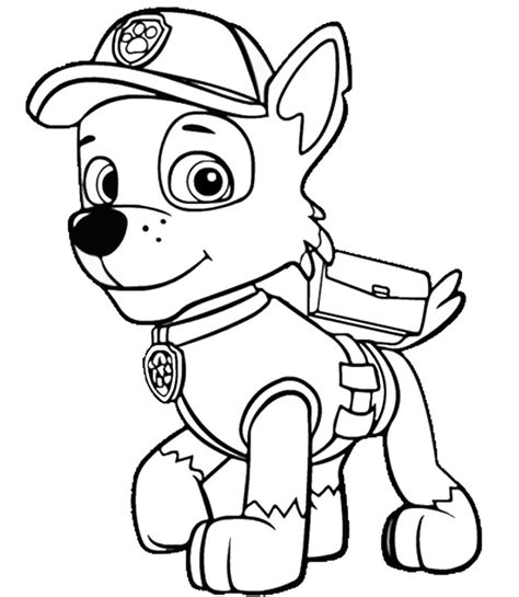 20 Best Paw Patrol Coloring Pages for toddlers Home