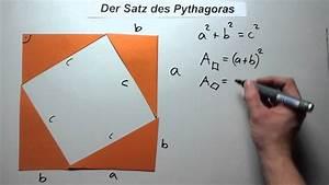 Satz Des Pythagoras A Berechnen : der satz des pythagoras beweis 1 youtube ~ Themetempest.com Abrechnung