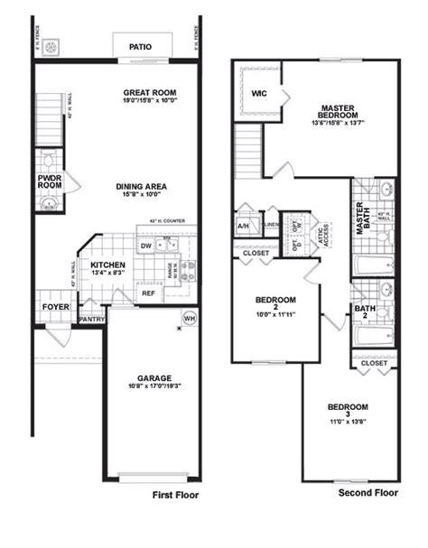 100 3 bedroom townhouse floor plans 3 bedroom two storey townhouse plans