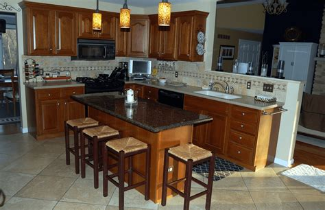 guide  kitchen island  breakfast bar  granite top