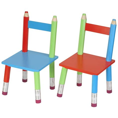 chaise pour chaises crayons pour enfant lot de 2