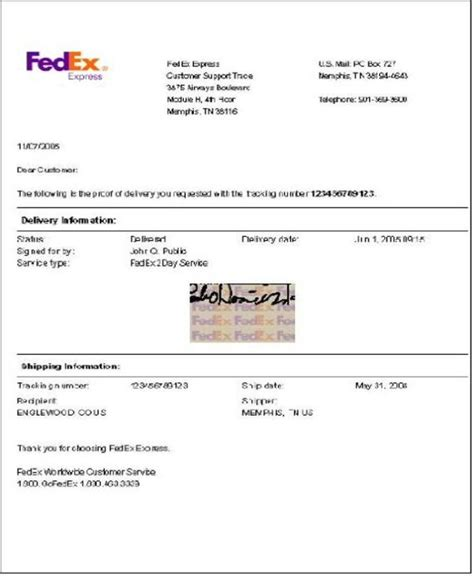 sample letter  fedex sample business letter