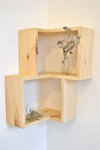 Double corner box shelf for Out of the box corner wall shelves