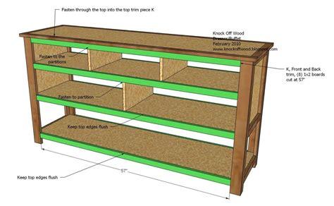 dresser  open shelves woodworking plans woodshop plans