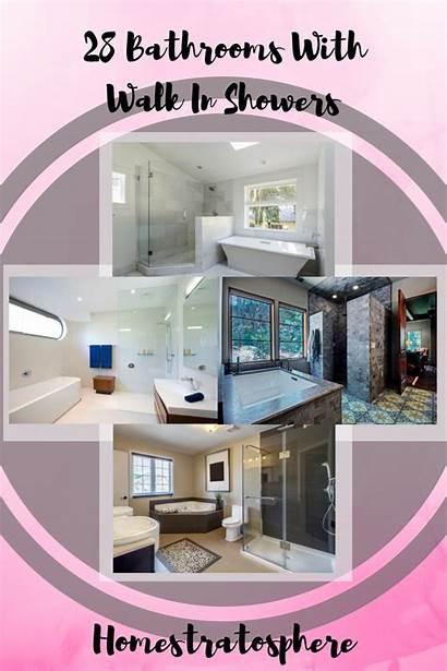 Walk Showers Bathrooms Master Stunning Glass Shower