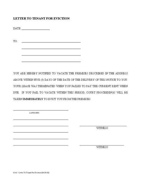 60 Day Notice Apartment Template by 60 Day Notice To Vacate Apartment Letter Template