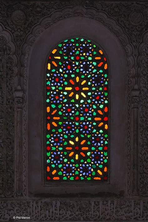 stain glass window  medersa fes morocco stained