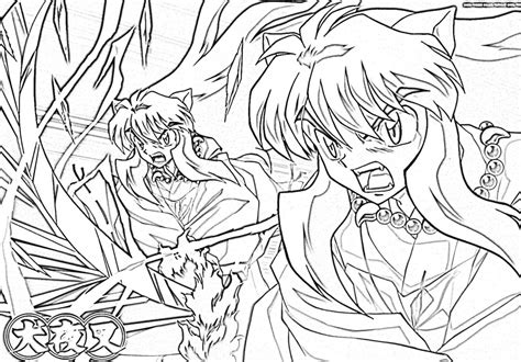 Coloring Pages To Print by Free Printable Inuyasha Coloring Pages For