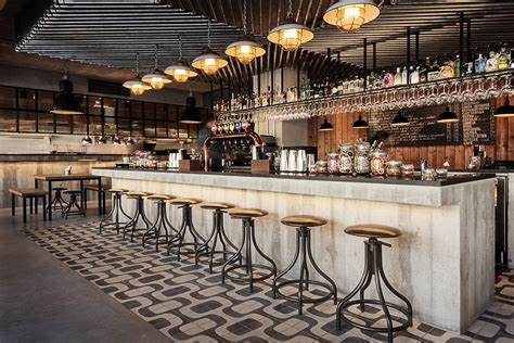 zinc dining honorato an inspiring industrial bar design in portugal