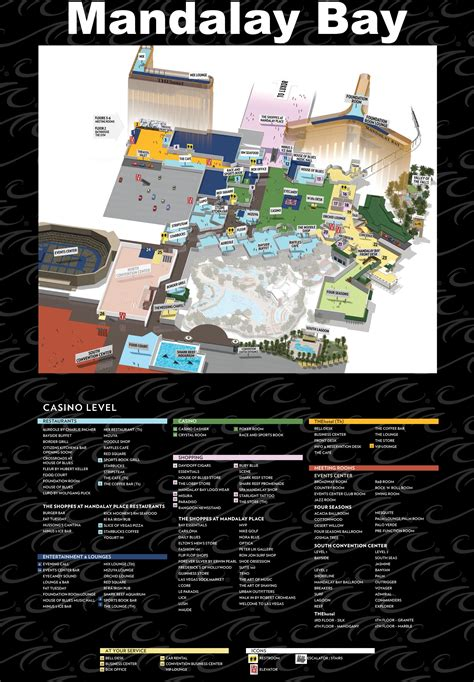 Mandalay Bay Floor Plan Map by Las Vegas Mandalay Bay Hotel Map
