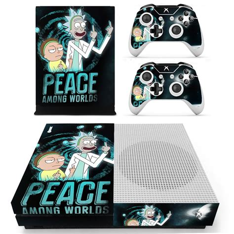 Rick And Morty Decal Xbox One S Console And 2 Controllers