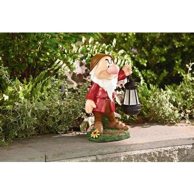 disney 17 quot statue with solar lantern grumpy outdoor