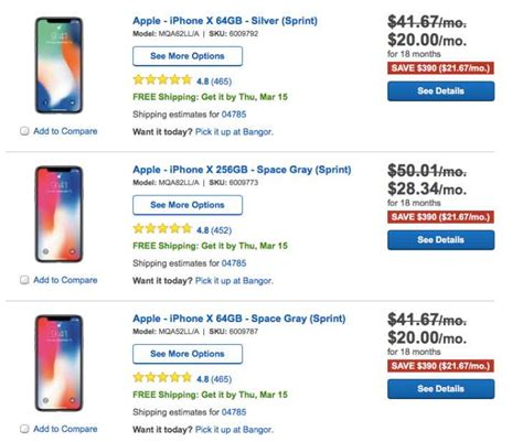 sprint iphone deals iphone x 64gb deals on sprint at best buy product
