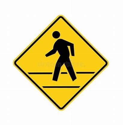 Yellow Road Crosswalk Sign Lines Naics Cross