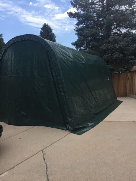 shelterlogic       portable garage canopy green