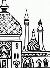 Islamic Mosque Pages Miraj Isra Clipart Coloring Ramadan Colouring Minarets Islam Drawing Studies Towers Clip Eid Familyholiday Vector Muslim Religion sketch template