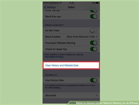 how to remove safari from iphone how to delete safari search history on an iphone 4 steps
