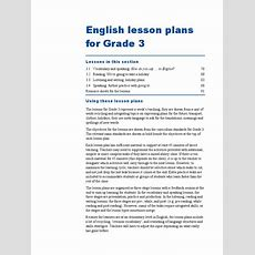 Bi Grade 3  Lesson Plan  English Language Vocabulary