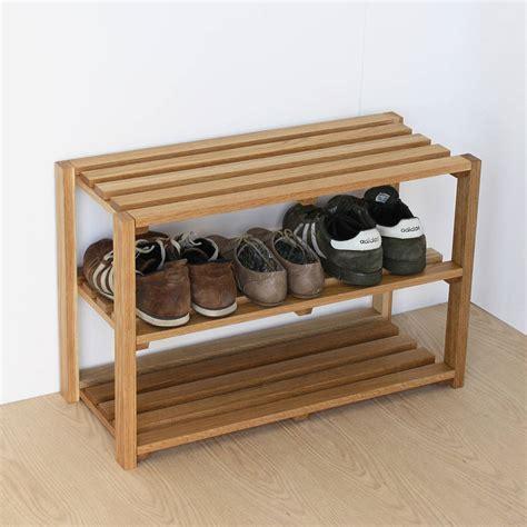 the shoe rack oak shoe rack by a b furniture notonthehighstreet