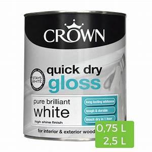 Peinture Bois Interieur : peinture blanche brillante quick dry pour bois et m tal ~ Dallasstarsshop.com Idées de Décoration