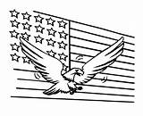 Coloring Flag American Eagle Pages Usa Bald Printable Sheets America Bestcoloringpagesforkids Flags Getcoloringpages Fireworks July sketch template
