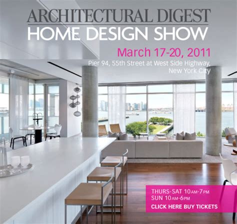 architectural digest home design show sophisticated minimalism the architectural digest home