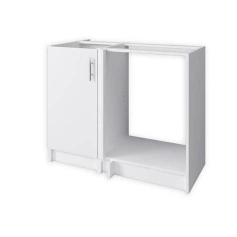 caisson d angle cuisine obi caisson d 39 angle de cuisine 1 porte 100 cm blanc mat