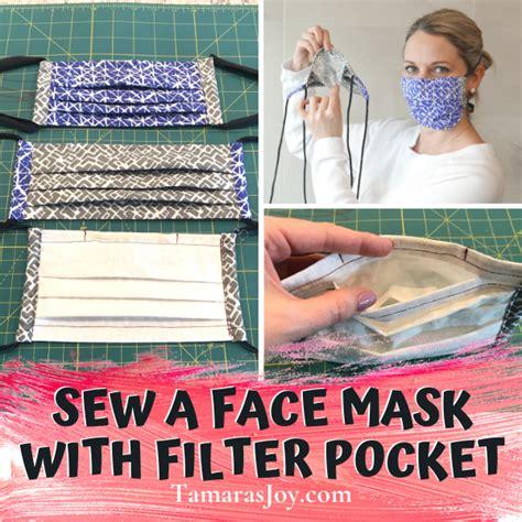 sew  face mask  filter pocket tamaras joy