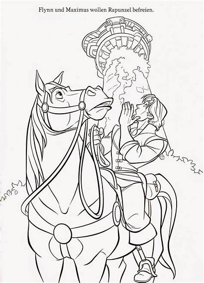Coloring Tangled Pages Maximus Printable Rapunzel Disney