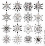 Holiday Snow Crystal Ornaments Winter Wonderland Snowflakes Silhouette      Christmas Snowflake Silhouette