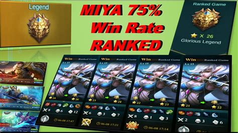 Miya 75% Win Rate 25*ranked Best Hero
