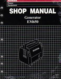 Honda Em650 Generator Shop Manual