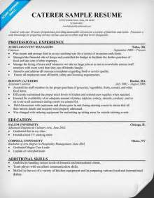 catering assistant resume sle catering resume out of darkness
