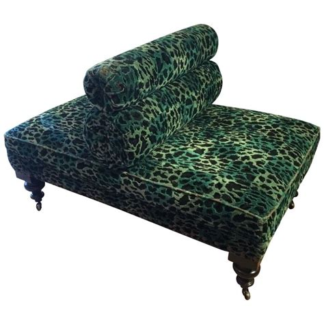 fabulous upholstered animal print back to back chair at
