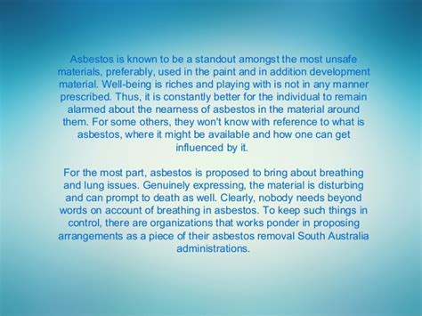 general awareness facts   asbestos removal