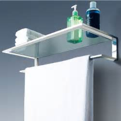 cool line platinum collection bathroom glass shelf with towel bar kitchensource